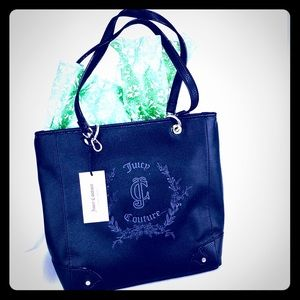 Juicy Couture Black leather tote NWT